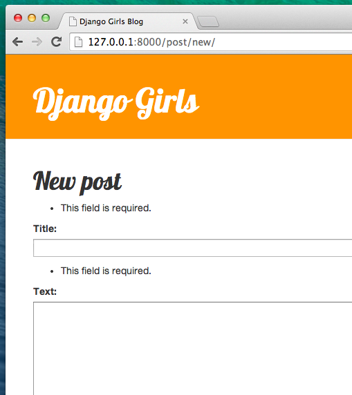 Django forms django girls tutorial for Django template comment