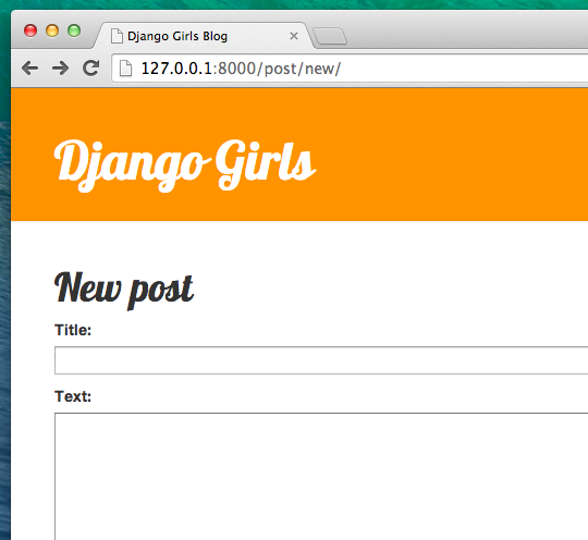 Django forms django girls tutorial new form pronofoot35fo Choice Image