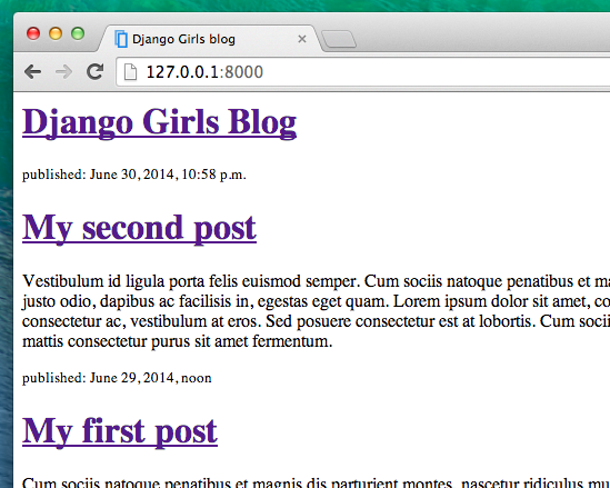 Django Template | Django Templates Django Girls Tutorial